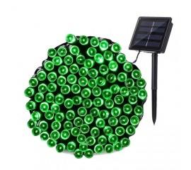 """Солнечная гирлянда """"Стринг"""" 100 светодиодов, 12 м, зеленый"""