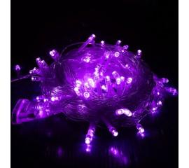 """Светодиодная гирлянда """"Стринг"""" 100 led, 10 м, 8 режимов, фиолетовый"""