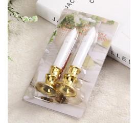 Комплект з 2-х світлодіодних свічок, 13 см, з батарейками