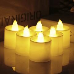 """Світлодіодна свічка """"Чайна"""", 4,5 см., біла"""