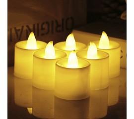 """Светодиодная свеча """"Чайная"""", 4,5 см., белая"""