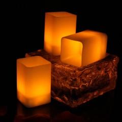 Світлодіодна свічка - квадратна, 5,5 см