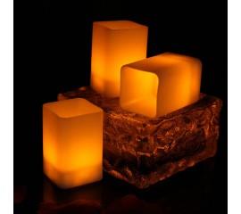 Светодиодная свеча - квадратная, 5,5 см