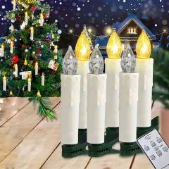 Набор из 20-ти светодиодных свечей на елку, с пультом ДУ