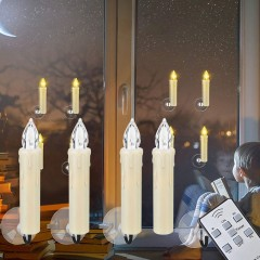 Набір з 10-ти світлодіодних свічок на ялинку або вікно, з пультом ДК