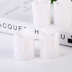 Светодиодные свечи, с белым фитильком, 5,5 см, белые