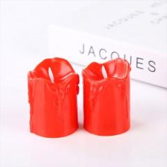 Светодиодные свечи , с белым фитильком, 5,5 см, красные