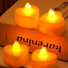 Світлодіодна свічка у формі серця, 4 см, біла