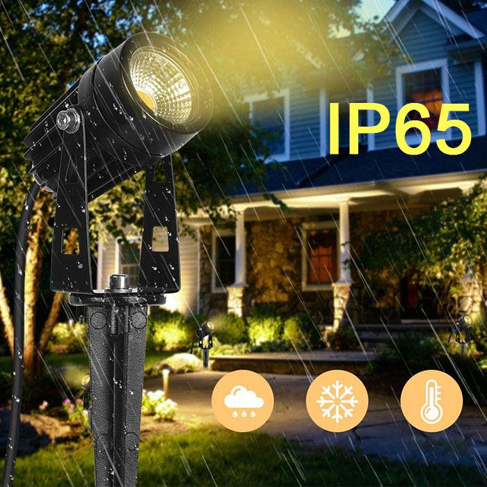 4 газонных светильника, 12V, теплый белый