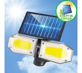 Прожектор с двумя головками, 130COB, на солнечной батарее, 3 режима