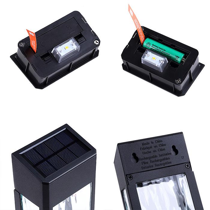 Настенный светильник, на солнечной батарее (яркий светодиод)