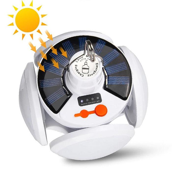 Кемпинговая лампа-трансформер, на солнечной батарее + зарядка от сети