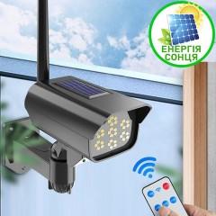 Міні прожектор у вигляді камери спостереження на сонячній батареї, 35LED, пульт ДК, датчик руху, 3 режими