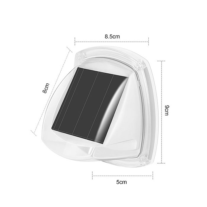 Два настенных светильника, на солнечной батарее, 8LED, теплый белый