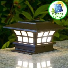 Фонарь для декоративной подсветки на солнечной батарее, теплый белый, 751025