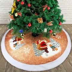 """Спідниця під ялинку """"Санта з лисичкою"""" 98 см"""