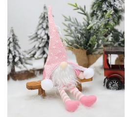 """Игрушка-подвеска с подсветкой """"Гном"""" розовый 35 см"""
