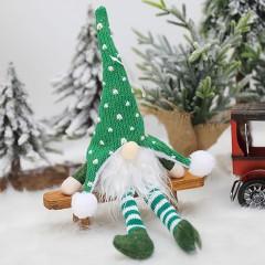 """Іграшка-підвіска з підсвічуванням """"Гном"""" зелений 35 см"""