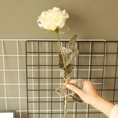 Ветка роза снежная белая 65 см