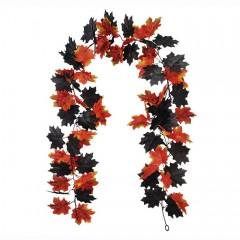 """Лиана """"Клен"""" оранжево-черный 180 см"""