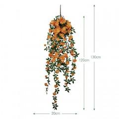 """Свисающая ветка """"Дикий шиповник"""" оранжевая 130 см"""