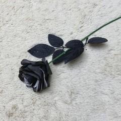Ветка роза черная 50 см