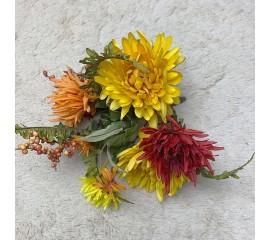 Букетик хризантемы, астры 23 см
