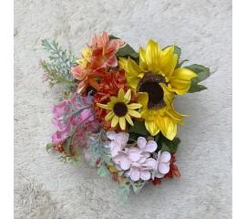 Букетик хризантемы, гортензия, далия