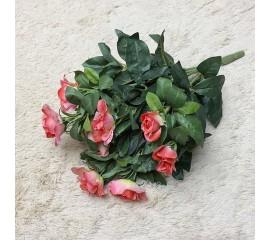 Букет садовых розочек розовый