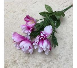 Букет пион с лилией