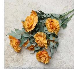 Букет роза кустовая оранжевая 80 см