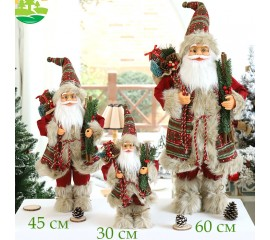 "Фигурка под елку ""Санта с веточками"" 45 см"