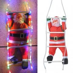 Санта на сходах з підсвічуванням кольоровий USB пульт д/у