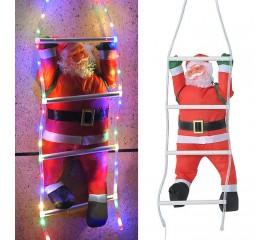 Санта на лестнице с подсветкой цветной USB пульт д/у