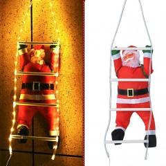Санта на сходах з підсвічуванням теплий білий USB