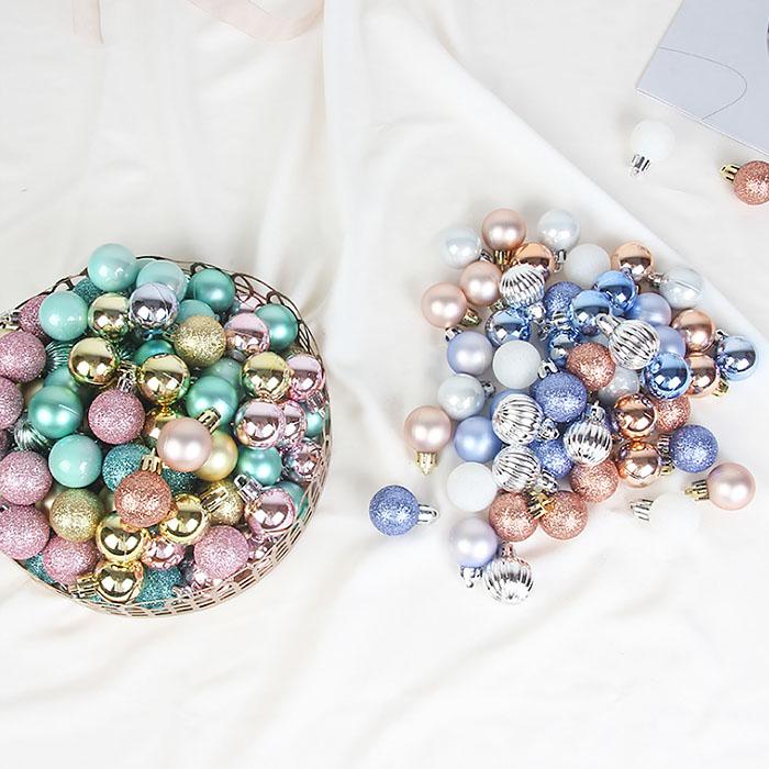 Набор елочных шариков 3 см (99 шт) - 000106D