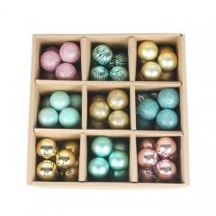 Набір ялинкових кульок 3 см (99 шт) - 000106A