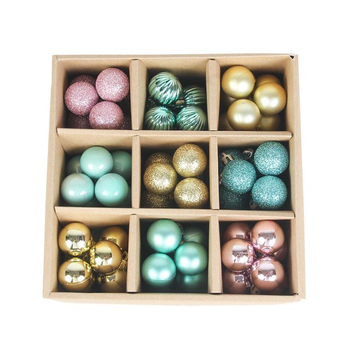 Набор елочных шариков 3 см (99 шт) - 000106A