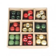 Набір ялинкових кульок 3 см (99 шт) - 000106В