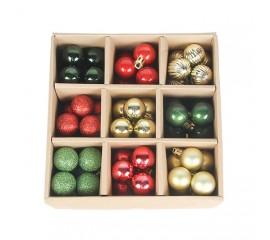 Набор елочных шариков 3 см (99 шт) - 000106В