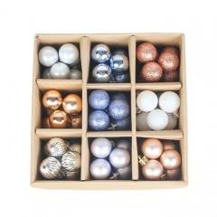 Набір ялинкових кульок 3 см (99 шт) - 000106D
