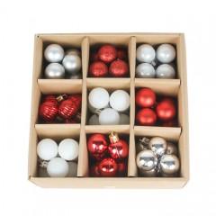 Набір ялинкових кульок 3 см (99 шт) - 000106F