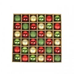 Набір ялинкових кульок 3 см (36 шт) - 000104А