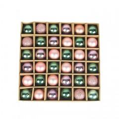 Набір ялинкових кульок 3 см (36 шт) - 000104В