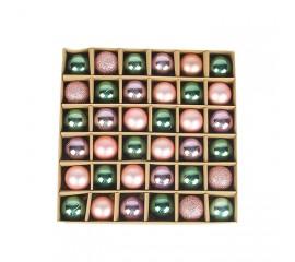 Набор елочных шариков 3 см (36 шт) - 000104В