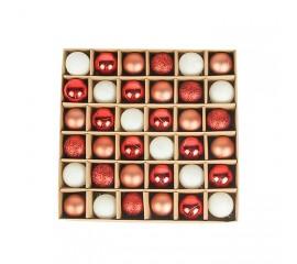 Набор елочных шариков 3 см (36 шт) - 000104C
