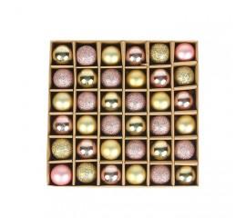 Набор елочных шариков 3 см (36 шт) - 000104D