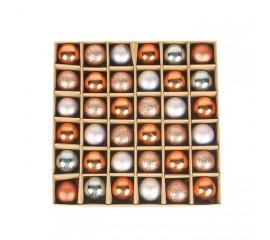 Набор елочных шариков 3 см (36 шт) - 000104Е