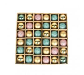 Набор елочных шариков 3 см (36 шт) - 000104F
