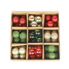 Набір ялинкових кульок 3 см (54 шт) - 000105А